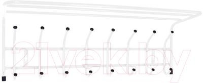 Вешалка для одежды Ника ВП8 с полкой (белый)