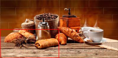 Элемент панно Belani Брик кофе 3 кремовый (300x600)