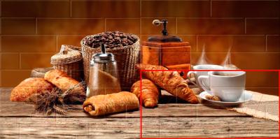 Элемент панно Belani Брик Кофе 4 кремовый (300x600)