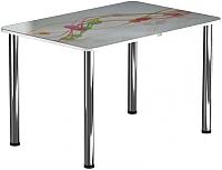 Обеденный стол Васанти Плюс ПРФ 100x60 (хром/57) -