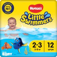 Подгузники-трусики детские Huggies Little Swimmers 2-3 (12шт) -
