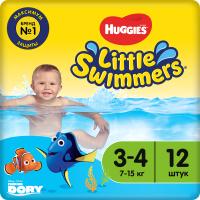 Подгузники-трусики детские Huggies Little Swimmers 3-4 (12шт) -