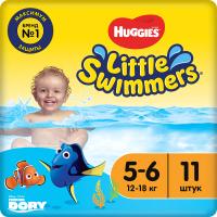 Подгузники-трусики детские Huggies Little Swimmers 5-6 (11шт) -