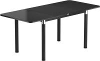 Обеденный стол Васанти Плюс Классик 120/178x80/ОЧ (черный/черный) -