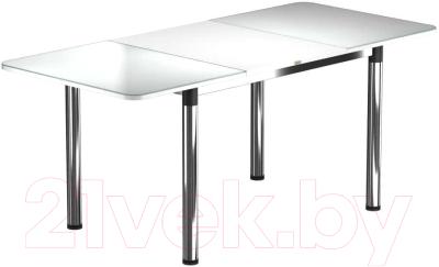 Обеденный стол Васанти Плюс Классик 110/158x70/ОХ (хром/белый)