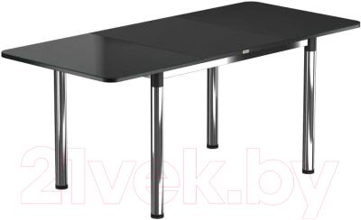 Обеденный стол Васанти Плюс Классик 110/158x70/ОХ (хром/черный)