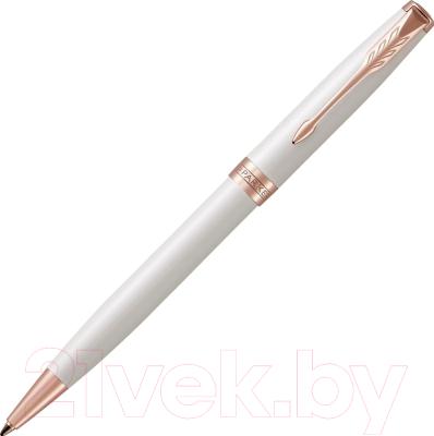 Ручка шариковая имиджевая Parker Sonnet Pearl White Lacquer PGT 1931555