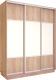 Шкаф Евва 176 SS.01 / АЭП ШК.3 03 (сонома/серебро) -