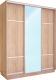 Шкаф Евва 176 SS.02 / АЭП ШК.3 03 (сонома/серебро) -