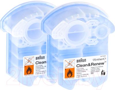 Картриджи для очистки электробритвы Braun CCR2