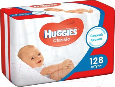 Влажные салфетки детские Huggies Classic (128шт)
