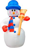 Фигура надувная новогодняя Neon-Night Снеговик с метлой 511-121 (1.2м) -