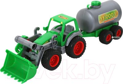 Погрузчик игрушечный Полесье с цистерной Фермер-техник / 8794