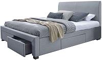 Двуспальная кровать Halmar Modena (серый) -
