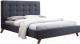 Двуспальная кровать Signal Melissa 160x200 (серый) -
