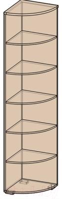 Угловое окончание для шкафа Интерлиния Коламбия КЛ-6 (дуб венге)