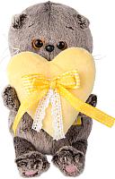 Мягкая игрушка антистресс Budi Basa Басик Baby с сердечком BB-006 -