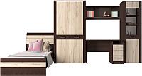 Комплект мебели для спальни Интерлиния Коламбия-5 (дуб венге/дуб серый) -