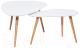 Комплект журнальных столиков Signal Nolan B (белый/бук) -