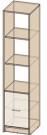 Стеллаж Интерлиния СК-024 без витрины (дуб венге/дуб молочный)