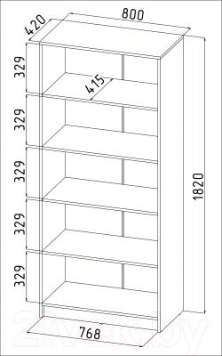 Стеллаж Интерлиния СК-025 (дуб сонома)