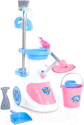 Набор хозяйственный игрушечный Полесье Помощница-5 с пылесосом / 59314