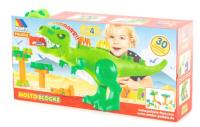 Конструктор Полесье Динозавр с конструктором / 67807 (30эл, в коробке) -