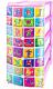 Комод пластиковый Эльфпласт Алфавит 3 (белый/розовый) -