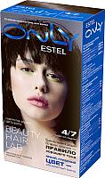Гель-краска для волос Estel Only 4/7 (шатен коричневый) -