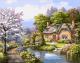 Картина по номерам Picasso Домик у реки (PC4050310) -