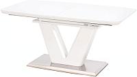 Обеденный стол Halmar Mistral 160-220x90 (белый) -