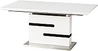 Обеденный стол Halmar Monaco 160-220x90 (белый/серый) -