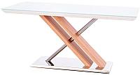 Обеденный стол Halmar Nexus 160x90 (белый/дуб сонома) -