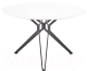 Обеденный стол Halmar Pixel 120x120 (белый/черный) -