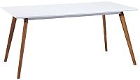 Обеденный стол Signal Milan 140x80 (белый/дуб) -
