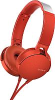 Наушники-гарнитура Sony MDR-XB550AP (красный) -