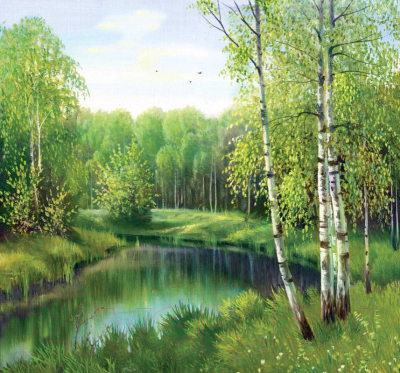 Фотообои листовые Твоя планета У тихой речки