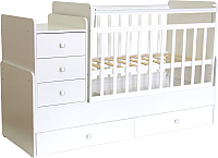 Детская кровать-трансформер Фея 1100 (белый) -