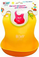 Нагрудник детский Roxy-Kids Мягкий / RB-401 (желтый) -