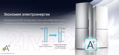 Холодильник с морозильником ATLANT ХМ 4625-101