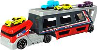 Автовоз игрушечный Haiyuanquan Трейлер P856-A (для гоночных машин) -