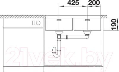 Мойка кухонная Blanco Andano 400/400-U / 522987