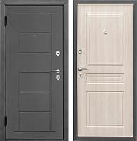 Входная дверь Промет Практик 504 беленый дуб (98x206, левая) -