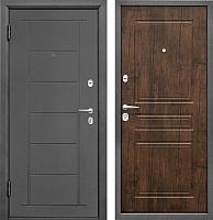 Входная дверь Промет Практик 504 тиковое дерево (88x206, левая) -