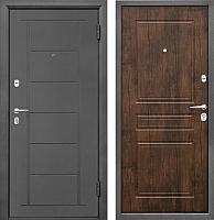 Входная дверь Промет Практик 504 тиковое дерево (98x206, правая) -