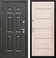 Входная дверь Промет Виктория Царга беленый дуб (88x206, левая) -