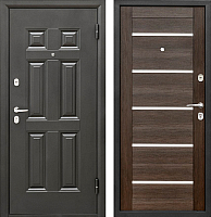 Входная дверь Промет Виктория Царга венге (88x206, правая) -
