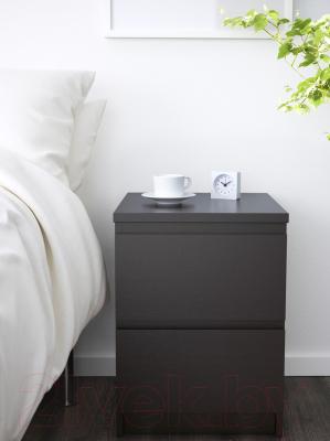 Прикроватная тумба Ikea Мальм 003.685.26 (черный/коричневый)