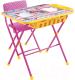 Комплект мебели с детским столом Ника КУ2П/3 Маша и Медведь. Азбука 3 -