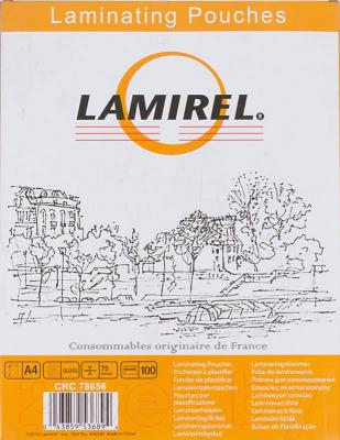 Пленка для ламинирования Fellowes Lamirel LA-78656 А4, 75мкм